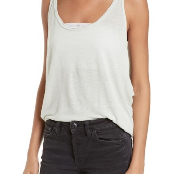 Free People Tops - Free People Sand Dollar Muscle Tank Top Mint Green